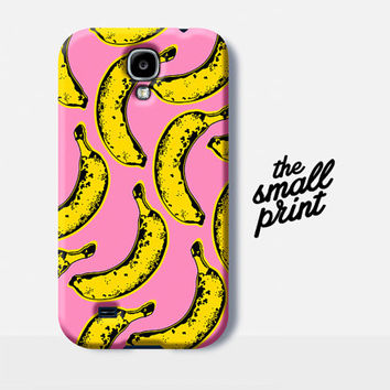 Banana Samsung S5 Case, Samsung S5 Case, Banana Pattern Case, Samsung Galaxy S5 Case, fruit pattern samsung s5 case, Pop art case