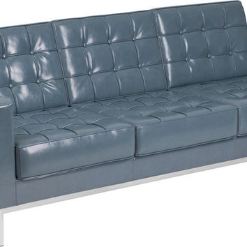 Gray Bonded Leather sofa