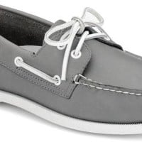 Sperry Top-Sider Authentic Original School Spirit 2-Eye Boat Shoe Gray, Size 11.5M  Men's Shoes