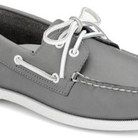 Sperry Top-Sider Authentic Original School Spirit 2-Eye Boat Shoe Gray, Size 13M  Men's Shoes