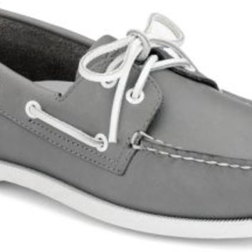 Sperry Top-Sider Authentic Original School Spirit 2-Eye Boat Shoe Gray, Size 9M  Men's Shoes