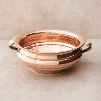 Copper Tibetan Incense Burner Bowl - 6 inch