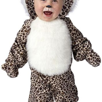 Ferocious White Spotted Leopard Infant Costume for Ages 6-12 months