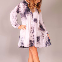 Think Of You Tye Dye Dress - Grey