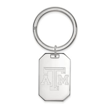 NCAA Sterling Silver Texas A&M U Key Chain
