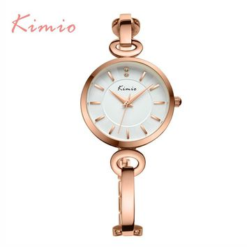 2017 New Kimio luxury ultra slim Top brand Women's quartz Elegant Ladies Dress watches bracelet wristwatches with Gift box
