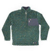 Blue Ridge Sherpa Pullover in Dark Green and Mustard by Southern Marsh - FINAL SALE