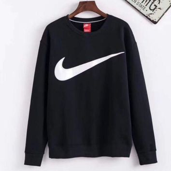 DCCKJH2 Nike Black Pullover Long Sleeves Tops Sweater Sweatshirt