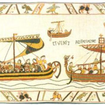 Les Normands The Norman Fleet French Tapestry
