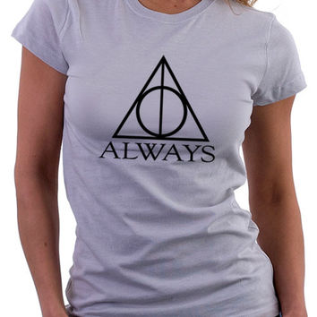 Always Harry Potter Ladies Ash Gray T-Shirt