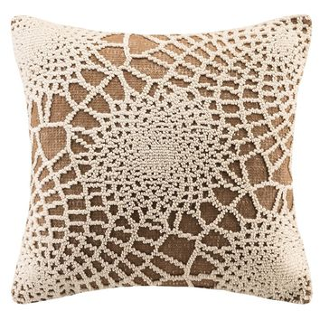 Crochet Pattern  Mocha Brown Throw Pillow