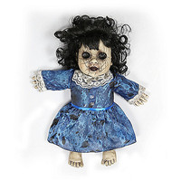 14 Inch Lost Lizzy Blue Haunted Doll - Decorations - Spirithalloween.com