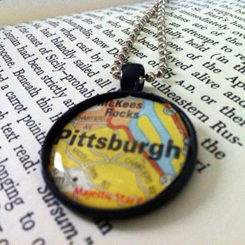 Pittsburgh Map Pendant Necklace