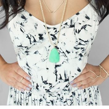 Sandra Pendant Necklace in Mint - Kendra Scott Jewelry
