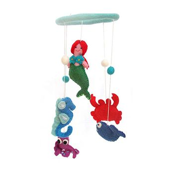 Felt Mermaid Baby Mobile - Nepal