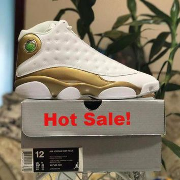 DCCK Air Jordan 13 Retro AJ13 Defining Moments White/Gold US 5.5-13