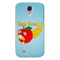 Raw Foods Food Fight Apple Verses Banana Samsung Galaxy S4 Cases