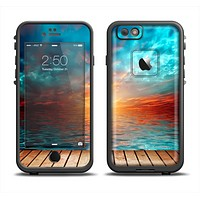 The Paradise Sunset Ocean Dock Skin Set for the Apple iPhone 6 LifeProof Fre Case