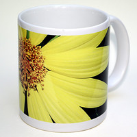 YELLOW! ceramic mug, Helianthus, sunflower, flower, garden, coffee mug, tea cup, all occasion gift, gift for anyone