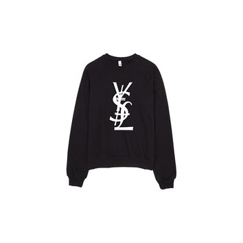 Yen Dollar Pound Symbol Couture Sweater Made in LA