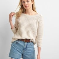 Pointelle boatneck sweater | Gap