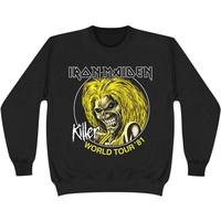 Iron Maiden Men's  Killers World Tour '81 Sweatshirt Black