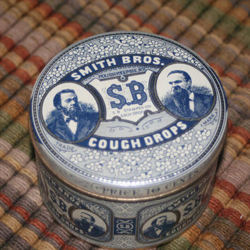 Smith Bros Tin vintage collectible