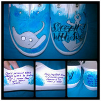 Sleeping With Sirens Custom Canvas Shoes by BombAssKicks on Etsy