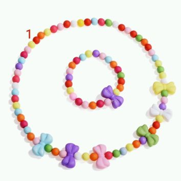 Acrylic Candy Color Beads Jewelry Set