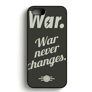 fallout 4 war never changes poster iPhone 5, iPhone 5s and iPhone 5S Gold case