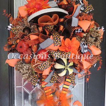 Wicked Witch Halloween Wreath, Halloween Wreath, Deco Mesh Wreath, Halloween Decoration, Pre-Order