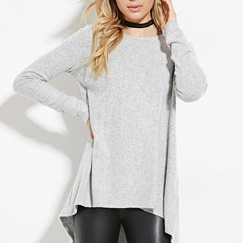 Longline Fleece Trapeze Top