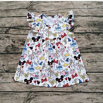 Flutter Dress Children's Mickey Dress