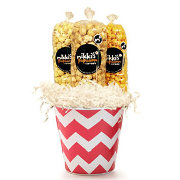 Red Chevron Gift Pail