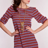Coral Multi Printed Design Dress