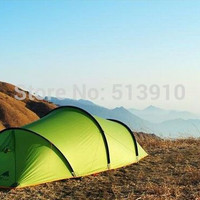 3F Gear High quality 210T 3 season Tunnel professional PU coating 2 layer camping tent with aluminium pole