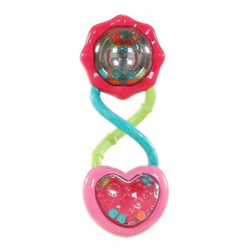 Kids II Bright Starts Pretty In Pink Rattle and Shake Barbell