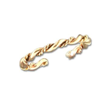 Fancy Twist Adjustable Toe Ring - Gold Filled