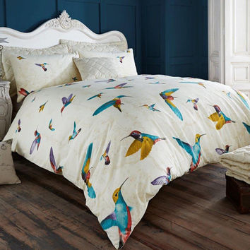 hammaing Bird Duvet Quilt Cover Pillow Case Bedding set Single Double King