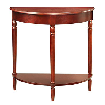 Convenience Concepts 6053182CH French Country Dark Cherry Entryway Hall Table