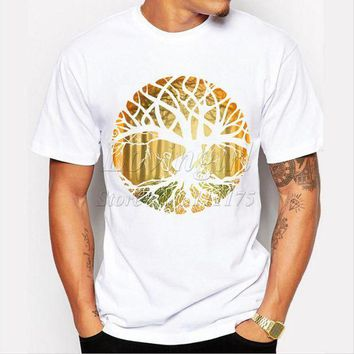 CREYGE2 Beauty Ticks New Design Druid Tree Printed Men S T-shirt O-neck Short Sleeve Cool Tops