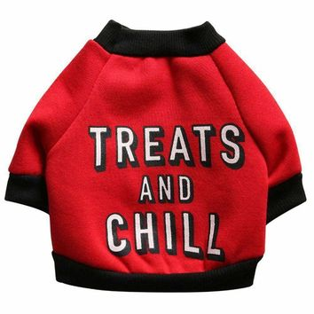 Transer Dog Puppy Funny Letters Fleece Shirt Apparel Warm Sweater Clothes Roupa Para Cachorro Dog Clothes Pet Costume Jan22