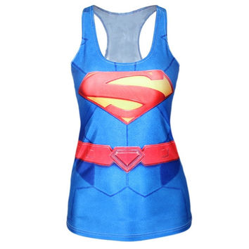 Superman Tank Top Workout Tank Tops Yoga Running Tank Workout Tanks for Women Yoga Camisole = 1932733956