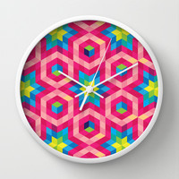 Facets Wall Clock by Raven Jumpo