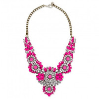 Neon Crystal Pink Necklace