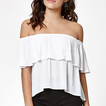 LA Hearts Overlay Off-The-Shoulder Top at PacSun.com