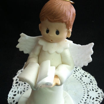 First Communion Child Cake Topper, Baptism Cake Topper, Communion Girl  Rosary, Boy Communion Favor, Baptism Favor, Baptism Cake Decoration