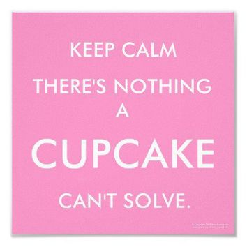 Keep Calm - Cupcake Vintage Lifestyle Poster from Zazzle.com