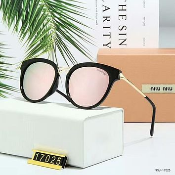 Miu Miu Summer Stylish Ladies Delicate Personality Sun Shades Eyeglasses Glasses Sunglasses Pink(Black Frame) I-A-SDYJ