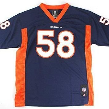 Von Miller #58 Denver Broncos Nfl Youth Mid Tier Jersey Navy